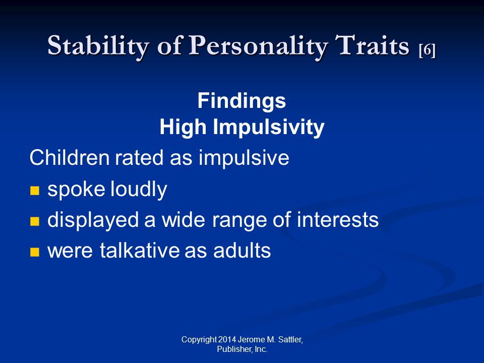 Stability of Personality Traits [6]